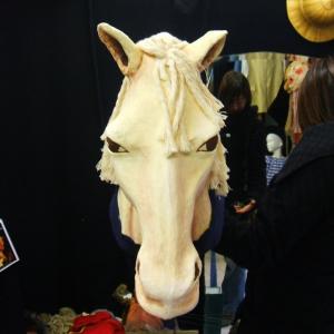 Tête de cheval en carton fallas