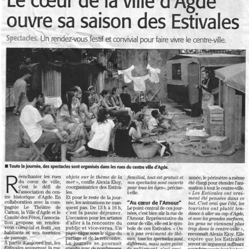 Les Estivales Au coeur de l'Amour 2017 - Théâtre de Carton